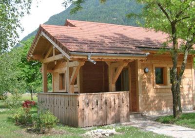 Vue extérieure chalet savoyard 35 m²