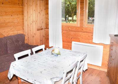 Salon chalet savoyard 35 m²