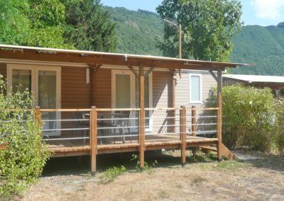Vue extérieure mobil-home premium 32 m²