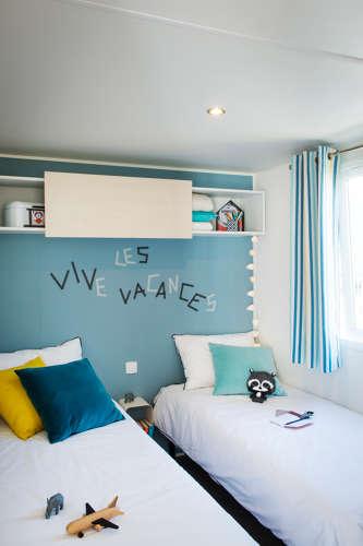 Chambre 2 lits mobil-home premium 34 m²