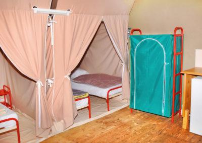 Chambres depuis la cuisine tente canada