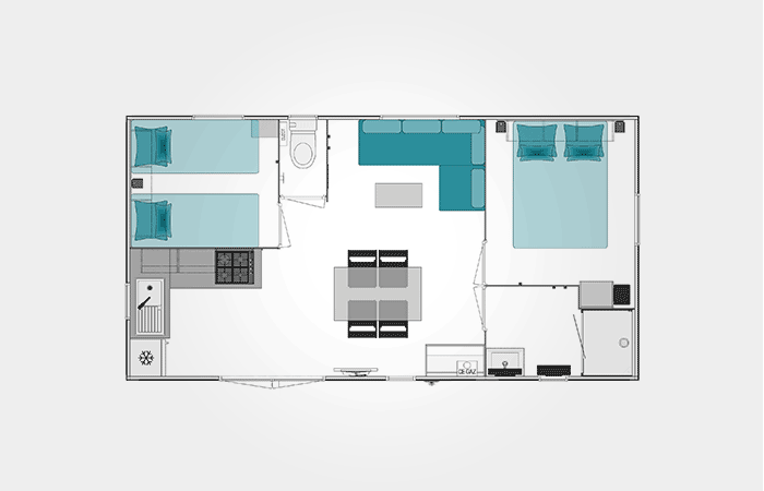 Plan mobil-home Bahia 2020 4/5 personnes