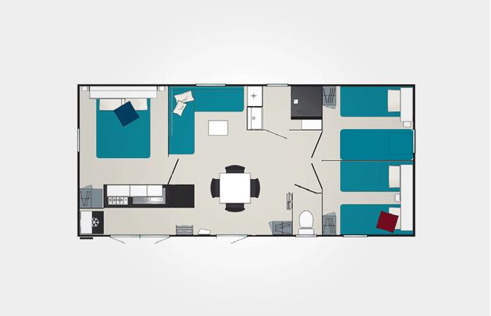 Plan mobil-home premium 3 chambres